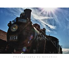 Blue Sky Steam Train - Saskatchewan by Photography by Benamoz Ltd.