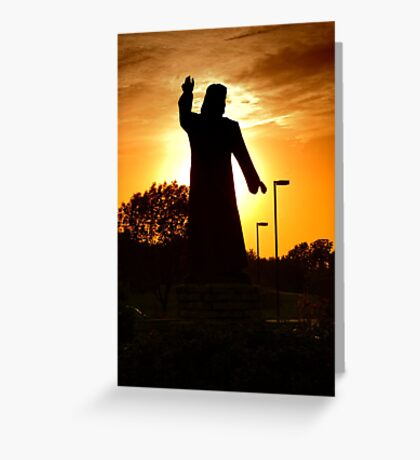Jesus In The Garden Greeting Card