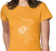 Bright Sunshiny Feeling - White version Womens Fitted T-Shirt