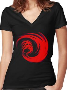 Giygas Women's Fitted V-Neck T-Shirt