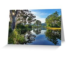 Reflections of Captain Cook Creek, Bruny Island, Tasmania Greeting Card