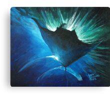 Manta at the surface Canvas Print