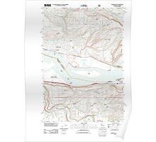 USGS Topo Map Washington State WA Washougal 20110727 TM Poster