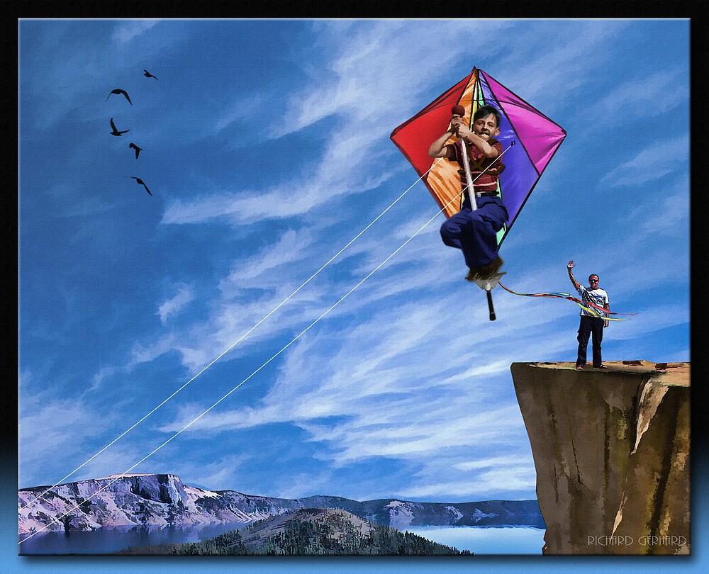 The Pogo Kite Flying Machine by Richard  Gerhard