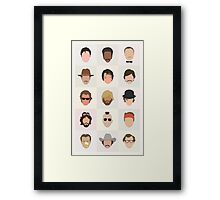 70s Movie Dudes Framed Print