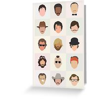 70s Movie Dudes Greeting Card