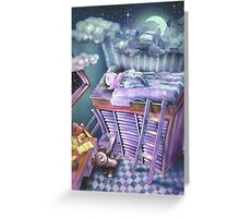 A bed in the sky Greeting Card