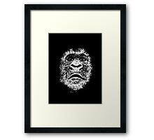 Black and White Face Of A Gorilla Framed Print
