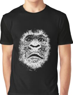 Black and White Face Of A Gorilla Graphic T-Shirt