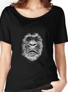 Black and White Face Of A Gorilla Women's Relaxed Fit T-Shirt