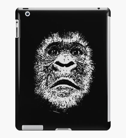 Black and White Face Of A Gorilla iPad Case/Skin
