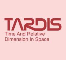 NASA Worm Logo TARDIS Kids Tee