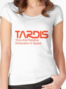 NASA Worm Logo TARDIS Women's Fitted Scoop T-Shirt