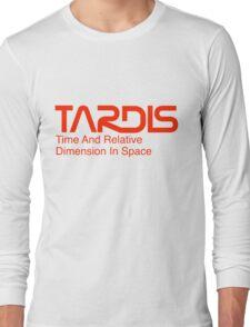 NASA Worm Logo TARDIS Long Sleeve T-Shirt