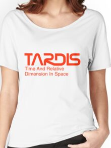 NASA Worm Logo TARDIS Women's Relaxed Fit T-Shirt