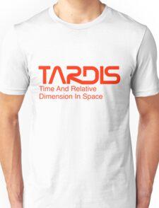NASA Worm Logo TARDIS Unisex T-Shirt