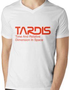 NASA Worm Logo TARDIS Mens V-Neck T-Shirt