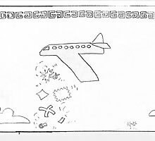 Areoplane Dumps Unwanted 1996 by Robert Phillips
