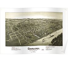 Panoramic Maps Charleroi Washington County Pennsylvania 1897 Poster