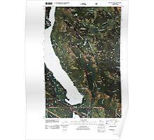 USGS Topo Map Washington State WA Kachess Lake 20110428 TM Poster