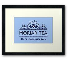 MoriarTea 2 Blue Ed. Framed Print