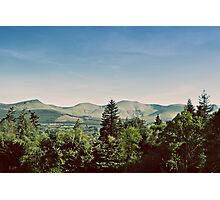the galtee mountains on a sunny day Photographic Print