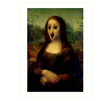 Haunted Mona Lisa Art Print
