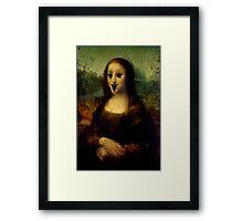 Haunted Mona Lisa Framed Print