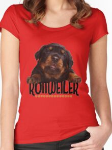 Rottweiler Love Women's Fitted Scoop T-Shirt