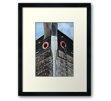 The Prow of a Trow Framed Print