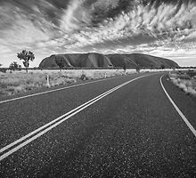 Road to the Rock - Uluru, NT by Liam Byrne