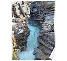 Athabasca Falls on Athabasca River Poster