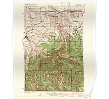USGS Topo Map Washington State WA Pomeroy 243192 1942 125000 Poster