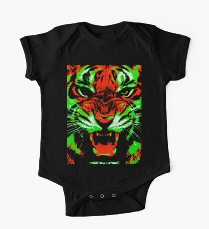 Pop Art Tiger One Piece - Short Sleeve