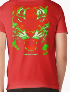 Pop Art Tiger Mens V-Neck T-Shirt
