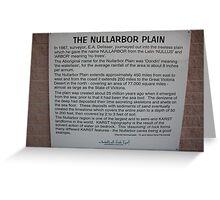 Nullarbor Information Greeting Card