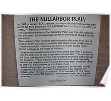 Nullarbor Information Poster