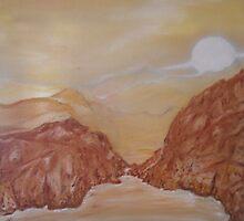 Titan, Saturn VI: Midnight by a Methane Lake by Nicla Rossini