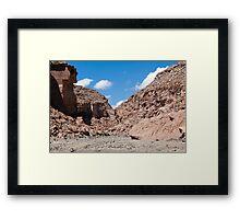 Quezala Canyon, Atacama Desert, Chile Framed Print