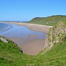 Rhossili Bay, Gower Peninsula by Paula J James