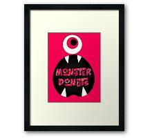 MoNsTeR DoNuTs CoLoR Framed Print