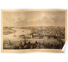Panoramic Maps Parkersburg Poster