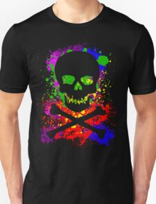 Paint Splatter Skull T-Shirt