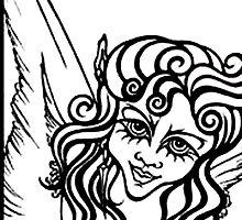 Gothic Angel: Original By Cynthia McDonald by StarlitSkiesArt