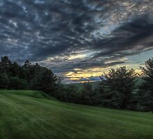 Hole #1 Sunset by Aaron Campbell