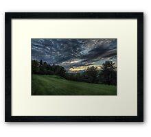 Hole #1 Sunset Framed Print