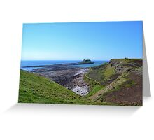 Worm's Head with causeway, Gower Peninsula Greeting Card