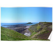 Worm's Head with causeway, Gower Peninsula Poster