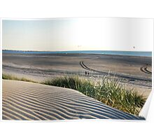 View over our North Sea Beach... Poster
