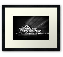 Sydney Vivid - Without Colour Framed Print